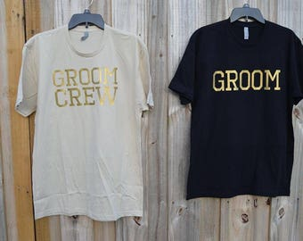 Groom Crew/ Groom Squad/ Tribe/ Crew/ Squad/ Wolf Pack/ Bachelor Party/ Wedding party/ Wedding/ Bridal Shirts
