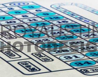 Blu Roulette Print