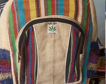 Hemp Backpack - Laptop Backpack - One Large Front Pocket