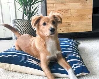 Vintage Textile Dog Bed - Brady