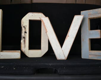 Vintage Reclaimed Wood Letters