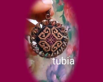 Necklaces,handmade,cross stitch,pendant,jevelry,jevelry necklaces,cross stitch pendant