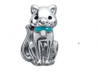 Floating Charm Cat Blue Collar