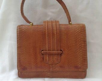 Vintage Snake Skin Bag