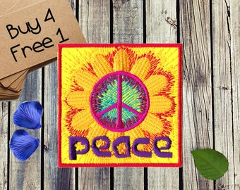 Hippie Gift Patches Boho Gift Patches Applique Iron On Patches And Appliques