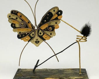 ArtDeco Wood Butterfly P