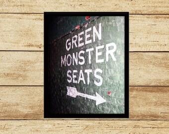 Fenway Park Green Monster Photograph