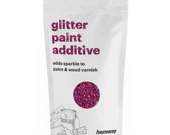 Hemway Glitter Paint Crystals Additive 100g for Emulsion - Rose Pink
