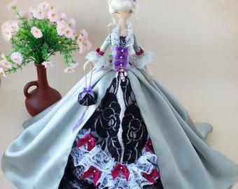 Textile doll, Fabric art doll, Soft doll, Cloth doll, Collectible doll, Rag doll, Interior doll, Lady doll, Rococo dress, Boudoir doll