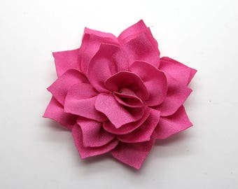 2 Pink Poinsettia Flower Baby Girl Flower Hair Clips Brooches