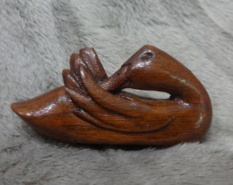 Carved Duck Pin