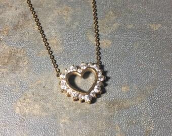 Vintage Gold-tone Heart Necklace