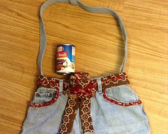 Recycled upscaled denim Levi's purse bag hobo