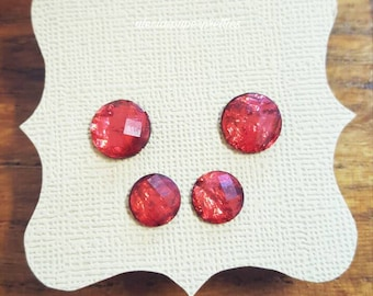 Twin set, red stud earrings
