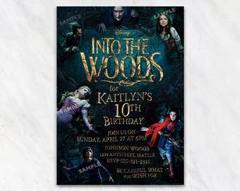 Into the Woods Invitation for Birthday Party - Printable Digital File
