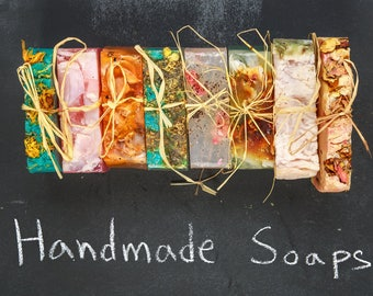 15 Homemade, Vegan Bar Soap Mix & Match Pack  | Coconut Oil, Aromatherapy Soap | Shea Butter, Vegan Soap | No Waste, Plant-based Soap