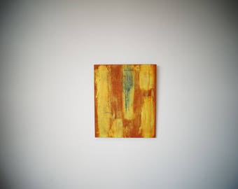 Unigue original abstract painting on MDF board from Putney artist Ian Williams.