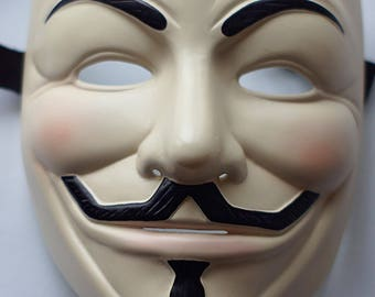 Guy Fawkes V for Vendetta Anonymous mask Cream mask Freedom mask