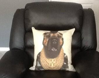 Mr. T Dog Face Cushion, Funny Pillow, dog Cushion, dog Pillow
