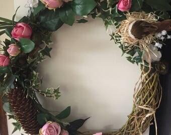 Willow door wreath
