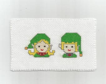 Elves boy and girl - Digital pattern - Instant download - Point of croix - Punto cruz - Embroidery - Cross Stitch pattern PDFs