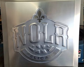nola pelicans wall art