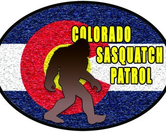 Colorado Sasquatch Patrol Sticker