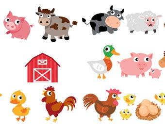 Farmyard Animal Stickers
