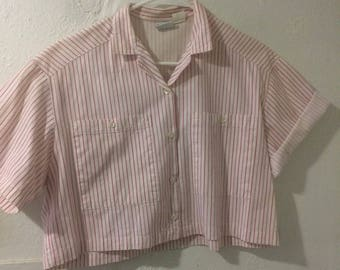 Vintage Cropped Candy stripe shirt