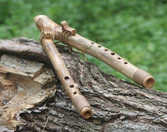 Native American Flute Key in C 432 Hz Double flute Drone flute Wooden flute