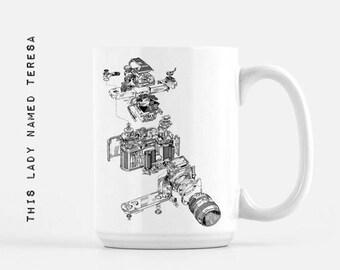 Camera Lens - design 4 - Nikon Diagram - 11oz or 15oz Mug