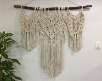Extra large macramé wall hanging