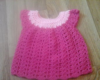 Shell stitch baby dress 19in chest