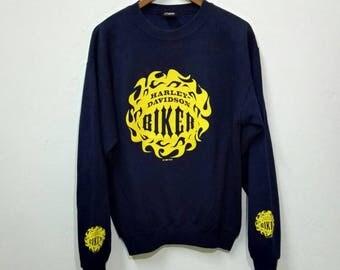 Vintage 90s HARLEY DAVIDSON BIKER Sweatshirt Nice Design