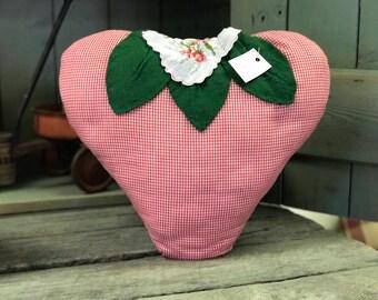 Handmade Strawberry Pillow