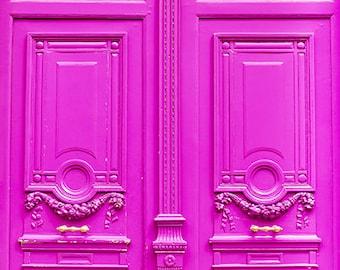 Pink Door Wall Art, Pink Paris Photos, Parisian House Photos, Romantic French Photography, Pictures Of Paris, French Home Photography