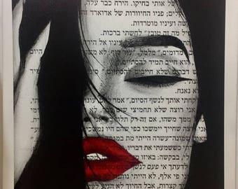 maggie Lindemann canvas painted print
