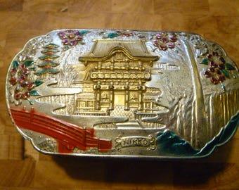 vintage enameled metal Nikko box