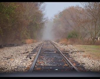Landscape/Old RailRoad Tracks /RailRoad Tracks Foggy/Mississippi