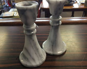 Marble Candlesticks (Set of 2)
