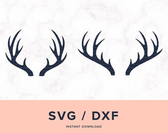 Deer Antlers SVG, Deer Antler SVG, Antlers SVG, Antler Svg, Deer Antlers, Antlers Cutting, Design for Cricut or Silhouette, Instant Download