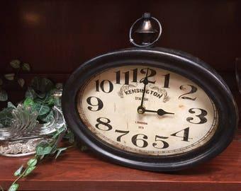 Kensington Bronze Train Clock