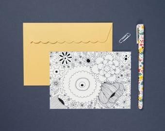 "Postcard ""FLOWERS"""