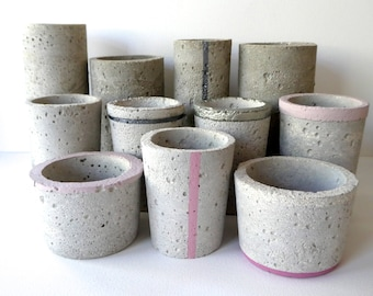 Concrete/cement pots - hand crafted