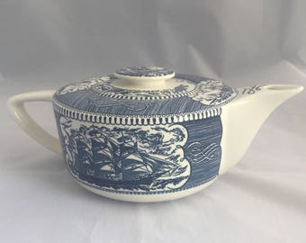 Currier and Ives teapot