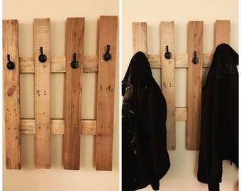 Handmade hanging coat rack
