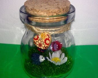 Mini bottle garden pets