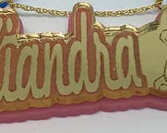 Simba Double Stacked Personalized Name Necklace