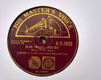 Glenn Miller Orcehestra Slow freight-Bugle Ball Rag  HMV B.D.5633