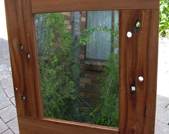 Stunning Recycled Australian Hardwood Railway Sleeper Timber Framed Mirror 805mm x 720mm